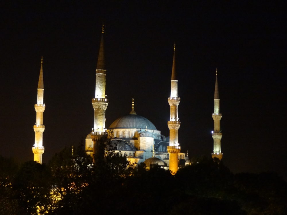 The Blue Mosque By Night, Istanbul
