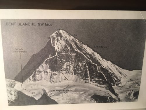 p108: The Dent Blanche route map
