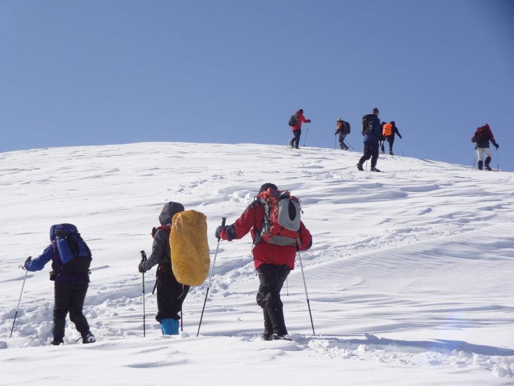 Ascending Cima Saurel (2449 m)
