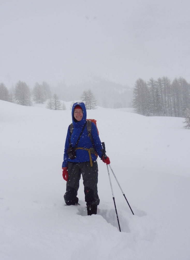 First day out in the snow - under Cima del Bosco