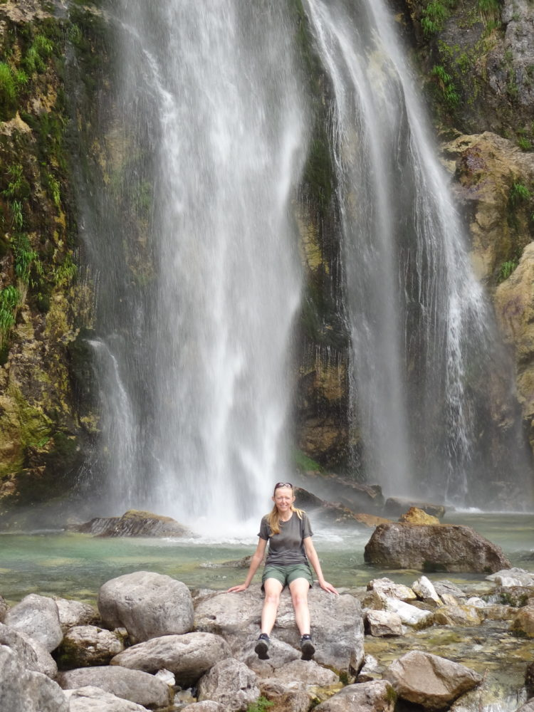 Me, cooling off at Ujëvara e Grunasit / Grunas waterfall / Thethi waterfall, Albania (June 2018)