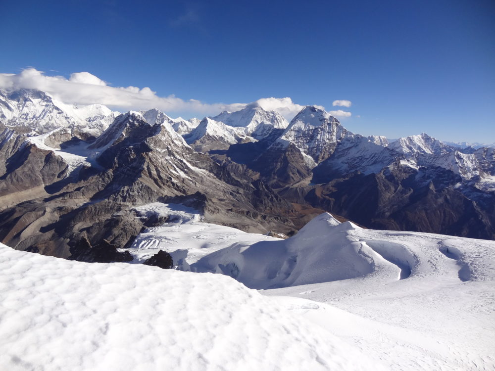 Looking north from Mera Peak