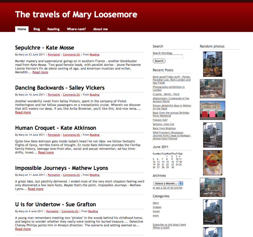 SparkyTrainers home page from 2011