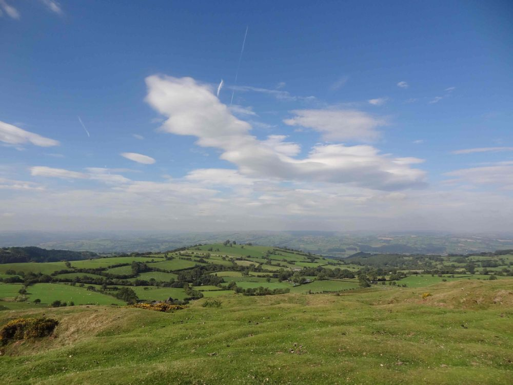 View of the Wye Valley from Hay Bluff, Powys