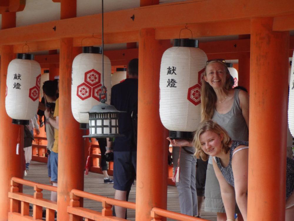 Me and Rosa, Miyajima Island, Itsukushima Shrine