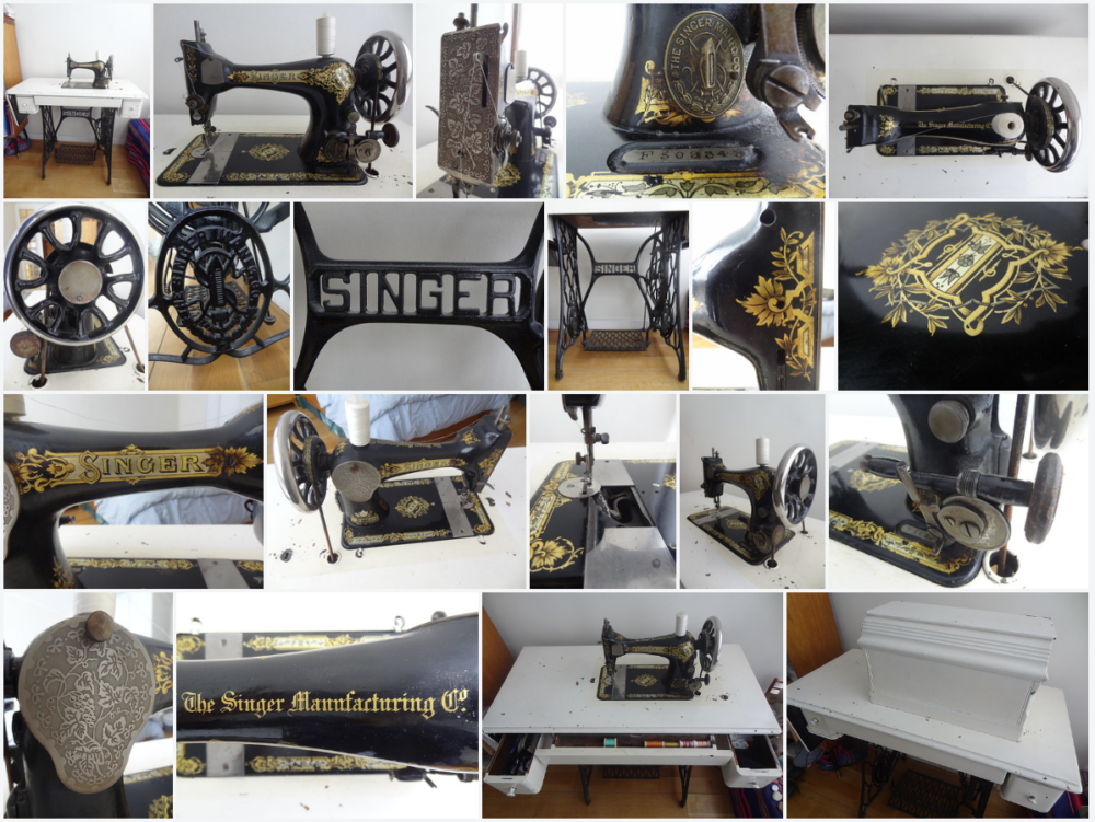 Montage - Singer 28K Treadle Sewing Machine, Serial Number F509343