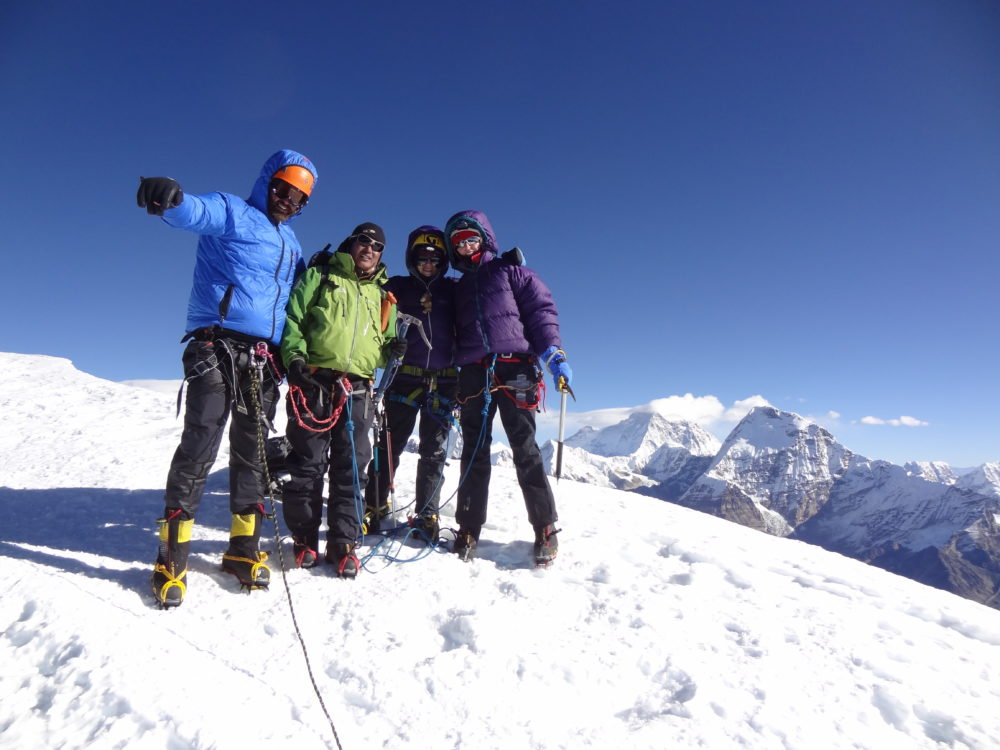 Stuart, Chhering, Nicola and me, Mera Peak